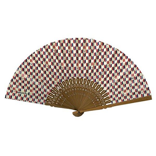 画像1: Komon+ 和紙扇子70型25間(矢絣うさぎ) (1)