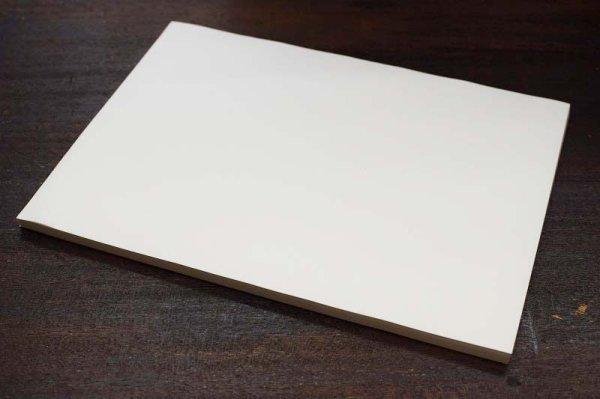 画像1: 清書用紙 習字半紙 時雨しぐれ(手漉半紙) 100枚 (1)