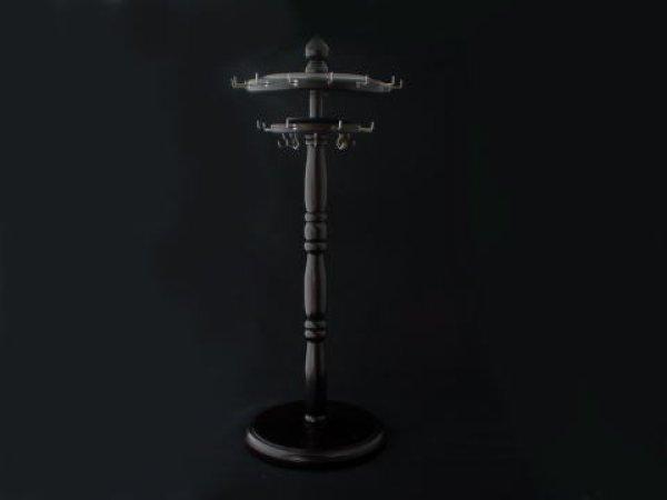 画像1: 二層ベアリング回転式筆掛 紅木 (1)