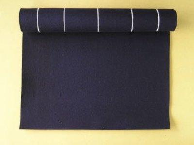 画像1: 罫入り下敷き 半切・条幅用 紺