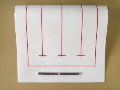 画像1: 罫入り下敷き 半切・条幅用 白
