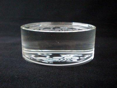 画像2: クリスタルガラス丸文鎮 白虎
