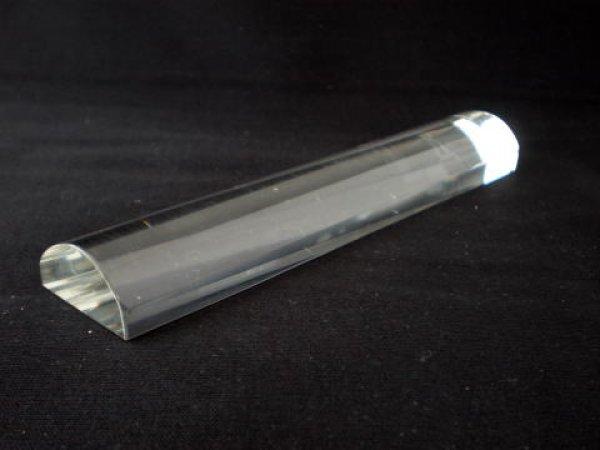 画像1: クリスタルガラス文鎮 カマボコ型 (1)