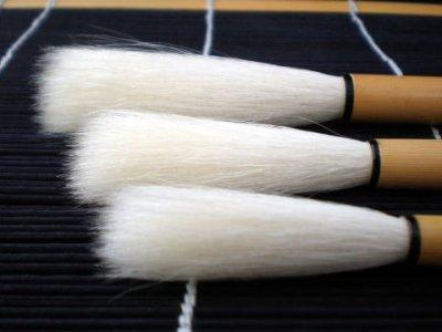 画像1: 高級羊毛筆 自在jizai5号 久保田号 羊毛